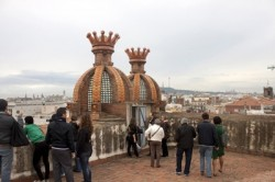 photo from the top of the Arc de Triomf