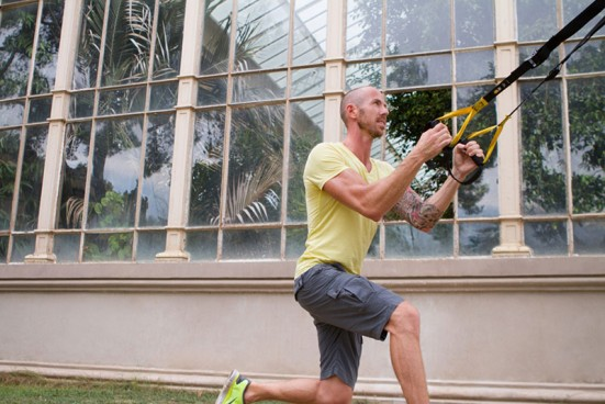 Jamie suspension training in Barcelona