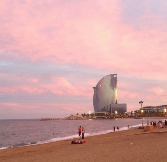 Barceloneta sunrise